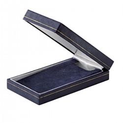 Ecrin simili cuir bleu - Dim.11.6x6x2.5 pour médaille du travail